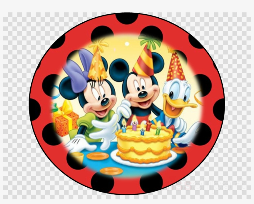Mickey Mouse Happy Birthday Background Clipart Mickey - Kids Happy Birthday Background, transparent png #5152659