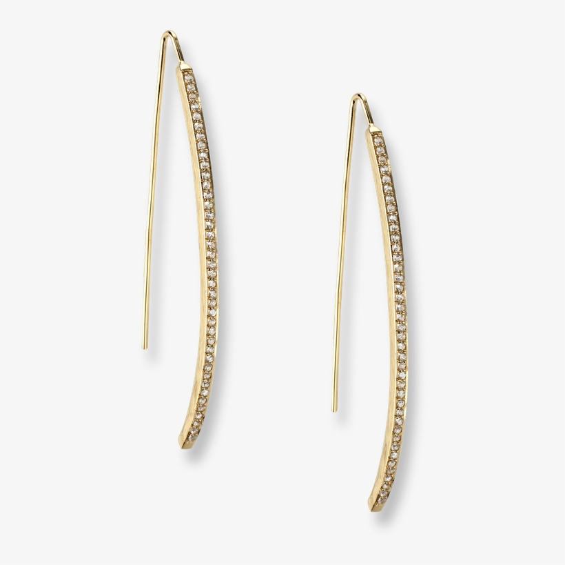 Nicole Barr Designs Gold Plated Sterling Silver Icicle - Earrings, transparent png #5154537