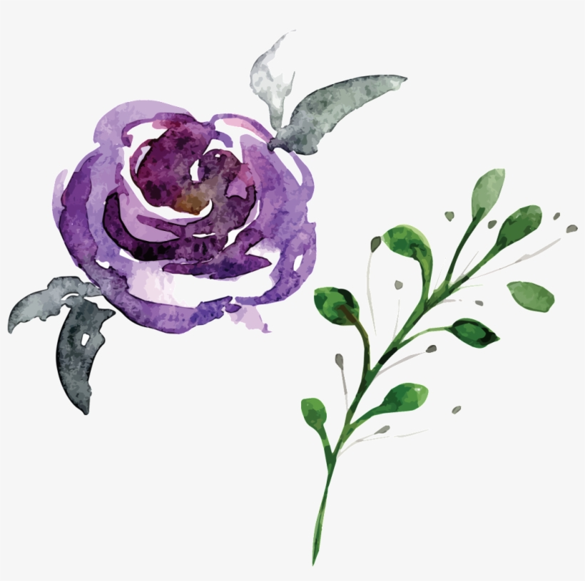 Hand Painted Flowers And Plants Hd Beautiful Illustration - Watercolor Crown Of Flower Png, transparent png #5155737