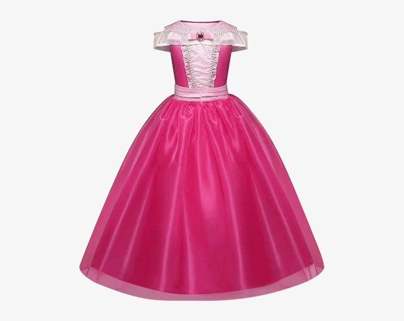 Petite Bello Dress Dark Pink / 3-4t Little Princess - Sleeping Beauty Costume For Girl Kids, transparent png #5157456