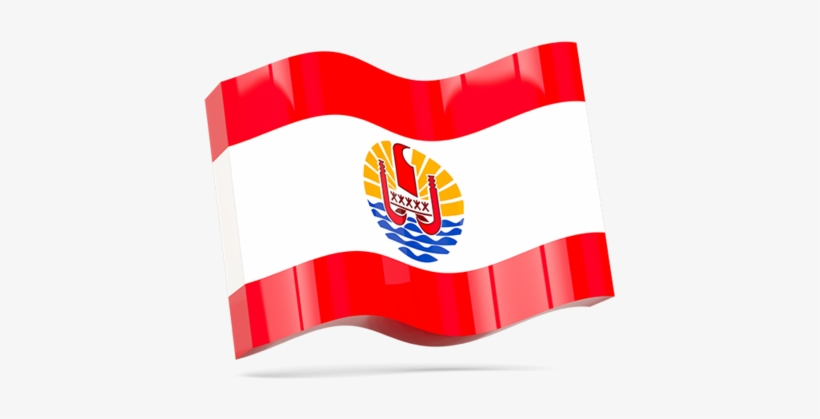 Illustration Of Flag Of French Polynesia - Pin Button Badge: French Polynesia - Polynesian Flag, transparent png #5166909