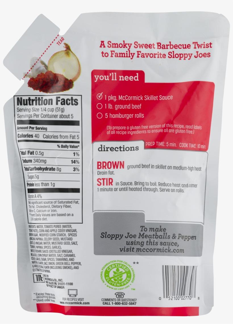 Mccormick Skillet Sauce, Smoky Applewood Bbq Chicken, transparent png #5172210