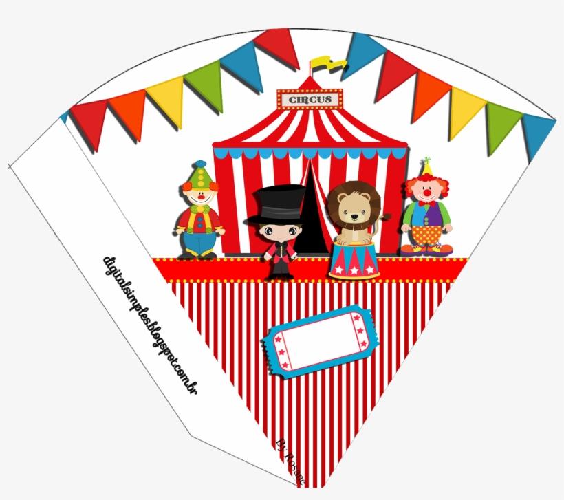 Cone Para Guloseimas Tema Circo Personalizados Circo Para