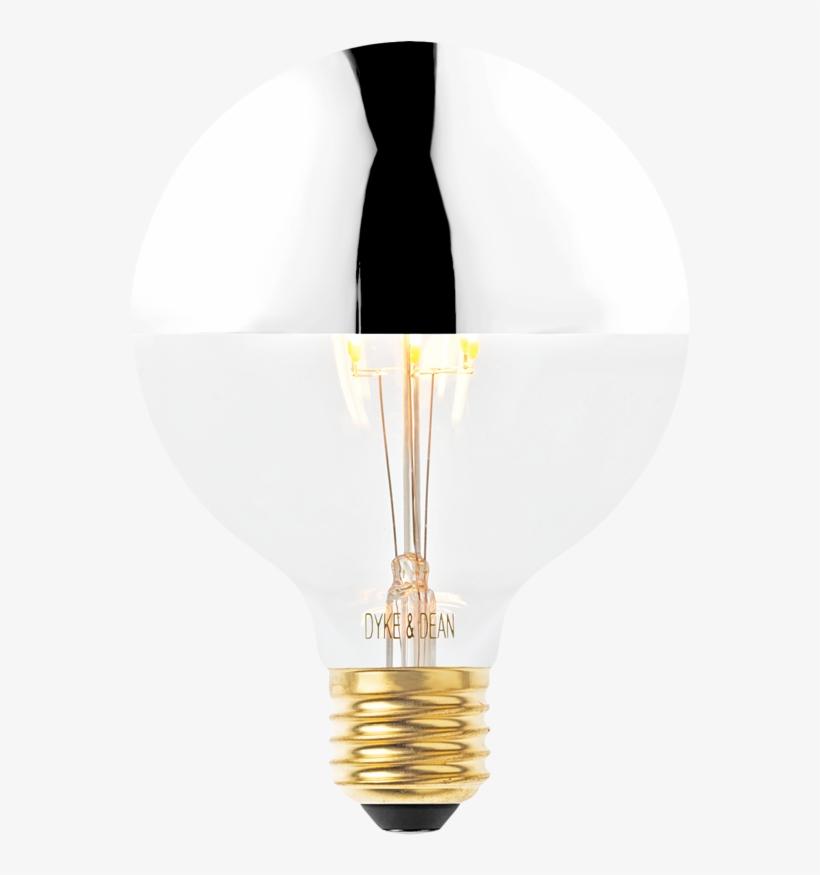 Led Silver Medium Cap Bulb - Incandescent Light Bulb, transparent png #5172386