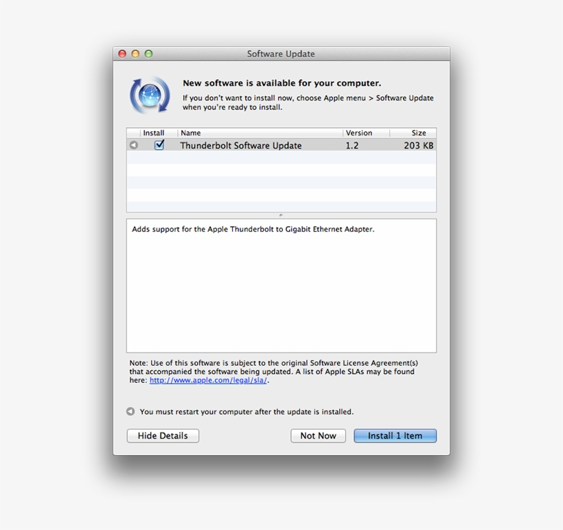 Thunderbolt Update - Software Update, transparent png #5173128