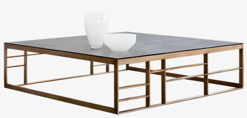 Glaucus Coffee Table - Joanna Brown Glass Square Occasional Table Set, transparent png #5184600