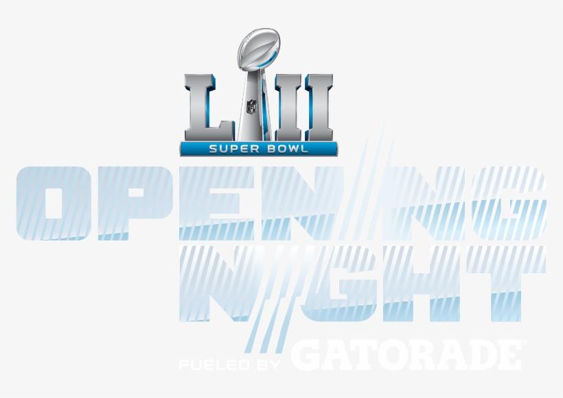 Super Bowl Opening Night Fueled By Gatorade - Super Bowl 52 Opening Night, transparent png #520058