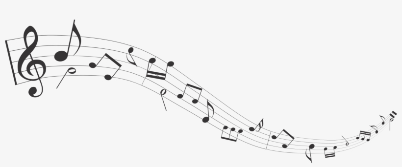 Musical Note Sheet Music Staff Musical Notation - Flowing Musical Notes Png, transparent png #520986