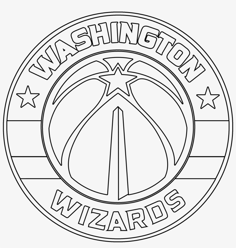washington wizards logo coloring page - circle with degrees marked