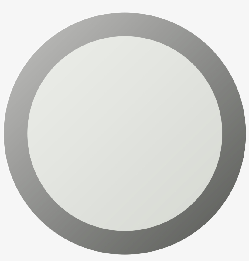 Open - Empty Gray Circle Png, transparent png #522719