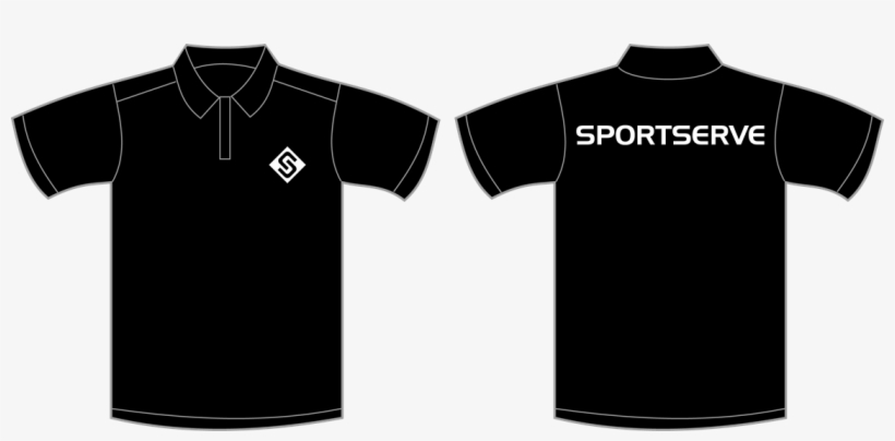T Shirt Template Black Polo Transpa Png 523874