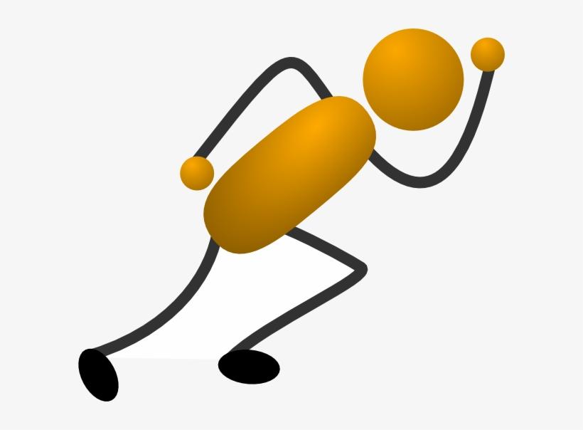 Running Stick Figure Clip Art At Clipart Library - Cartoon Stick Figure Runner, transparent png #527121