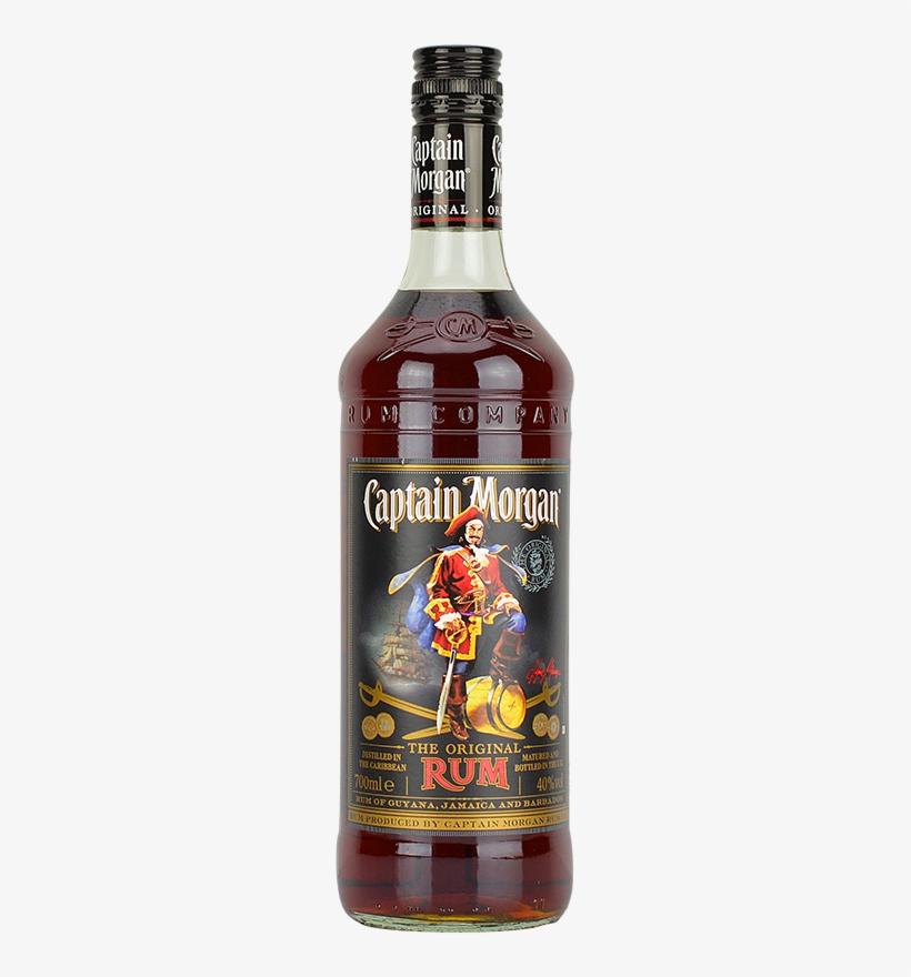 Engraved Text On A Bottle Of Personalised Captain Morgan - Captain Morgan Black Label 70cl Bottle, transparent png #527805