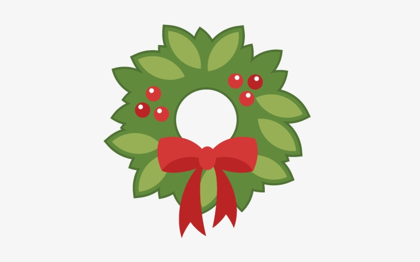 Christmas Clipart Wreath - Free Christmas Wreath Svg, transparent png #528624