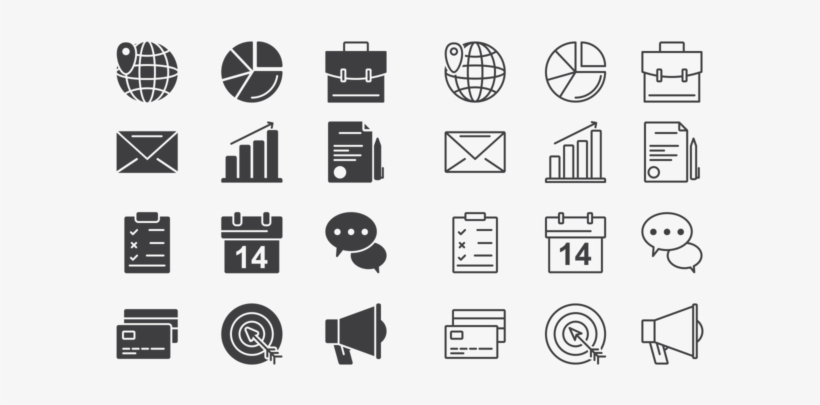 Business Icons Vector - Vector Business Icon Png, transparent png #5202847