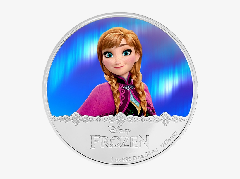 Disney Frozen Silver Coin Anna - Sale - Disney Frozen - Anna 2016 1oz Silver Proof Coin, transparent png #5203065