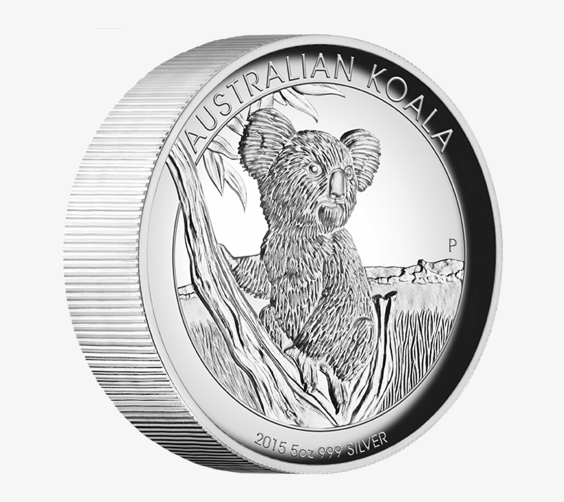 2015 Australian Koala 5oz Proof High Relief Silver - Australian Koala 2015 5oz Silver Proof High Relief, transparent png #5203286