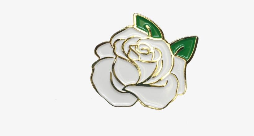 White Rose Pin - Rose Pin Transparent, transparent png #5212682