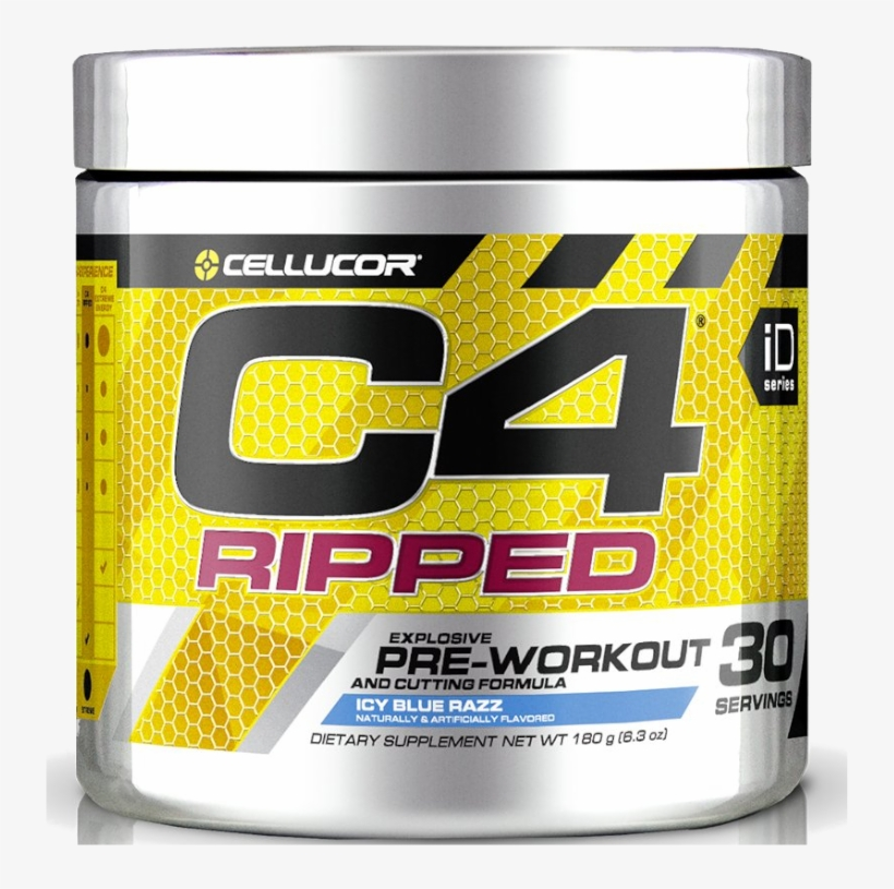 Cellucor C4 Ripped 30sv Blue Raspberry - Cellucor C4 Ripped - 30 Servings Fruit Punch, transparent png #5223483