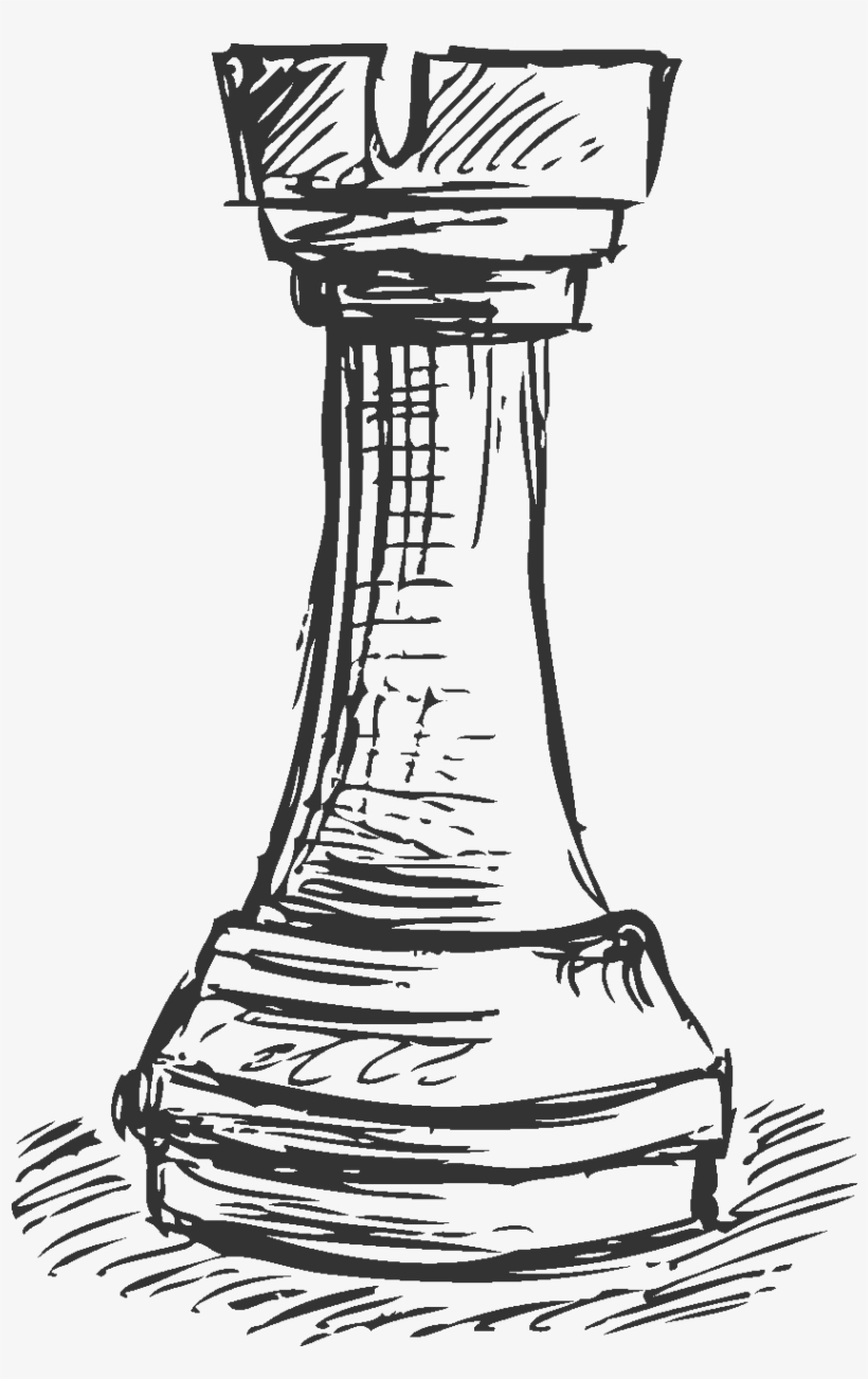Drawing Chess Rook Jpg Royalty Free - Rook Chess Piece