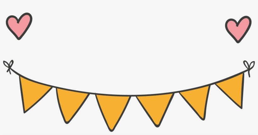 Banner Party Clip Art - Yellow Party Banner Png, transparent png #5230428