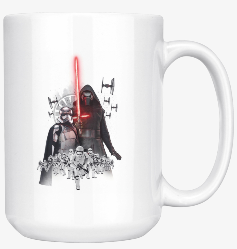 Star Wars The Force Awakens Darth Vader Mug - First Order Stormtrooper And Kylo Ren, transparent png #5233770