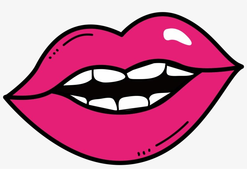Lip Clip Art Pink Lips Transprent Png - Rosy Lips Clip Art, transparent png #5246623