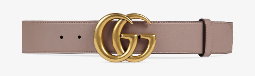 Shop The Leather Belt With Double G Buckle By Gucci - Gucci Belt Women Pink, transparent png #5248117