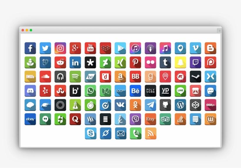 Social Media Follow Buttons Bar Pro - Social Media, transparent png #5263045