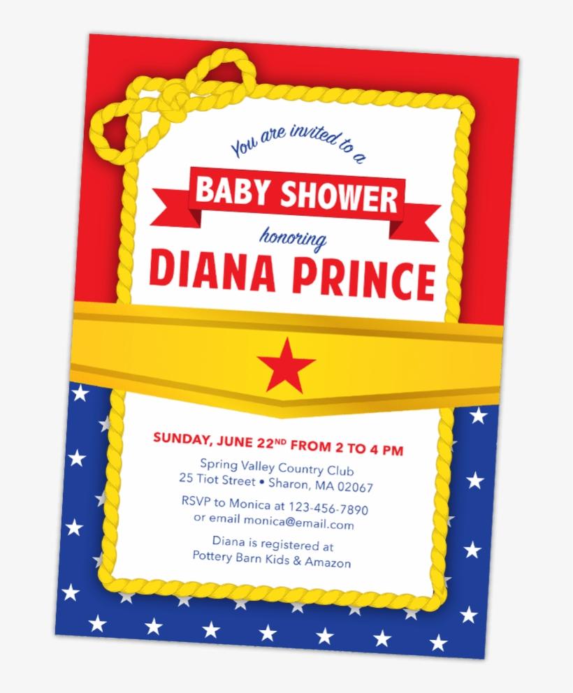 Wonder Woman Baby Shower Invitation - Wonder Woman Baby Shower Invitations, transparent png #5270012