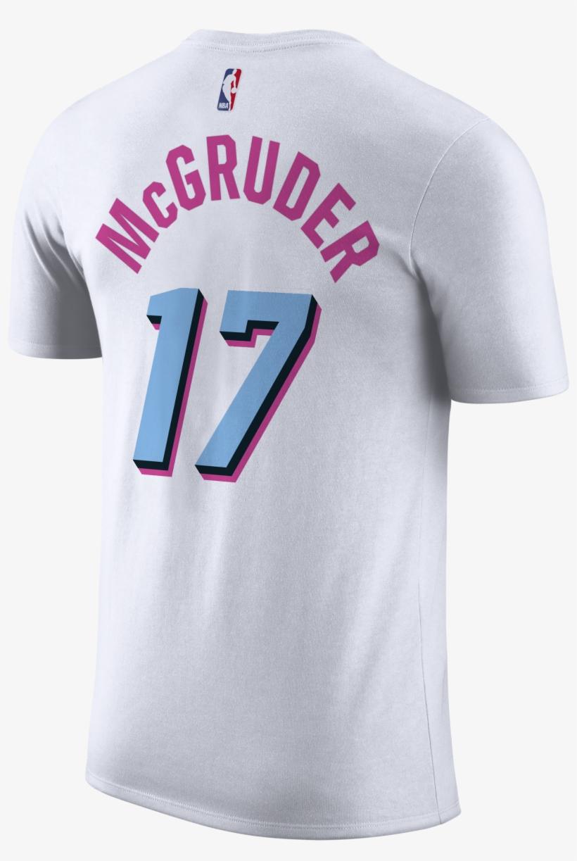 Rodney Mcgruder Nike Miami Heat Vice Uniform City Edition - Miami Heat T Shirt Jersey, transparent png #5272984