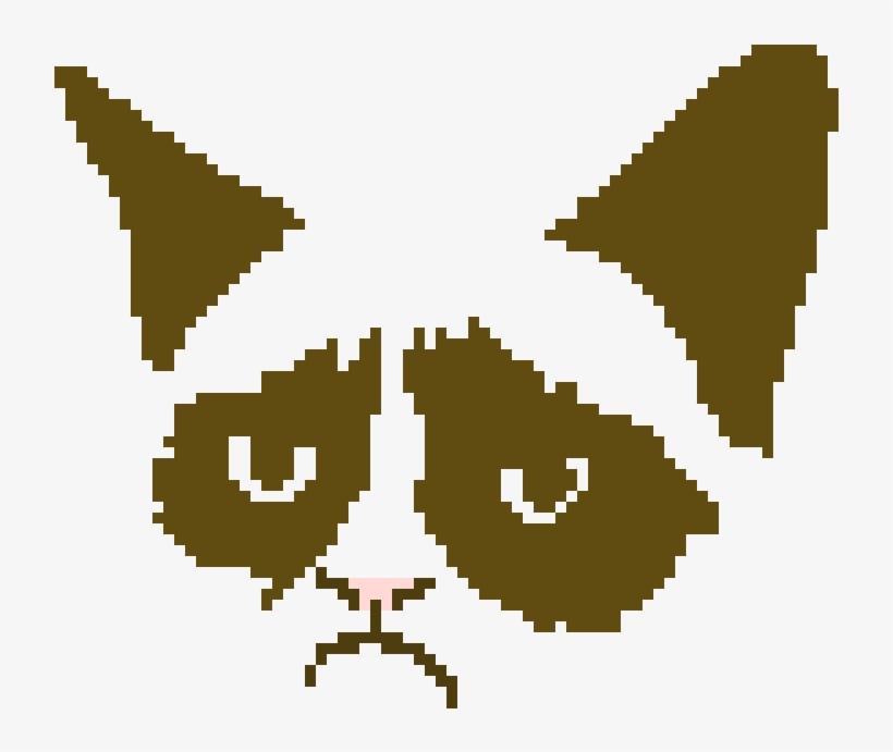 Grumpy Cat - Cross Stitch Cat Chart, transparent png #5273145