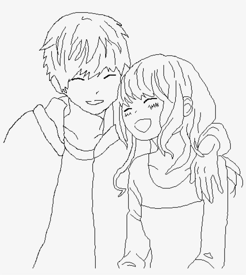 Anime Couple Base - Anime Couple Drawing Base, transparent png #5279709