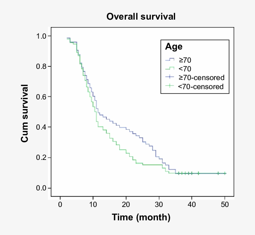 Survival Analysis In Locally Advanced Lung Cancer, - Plot