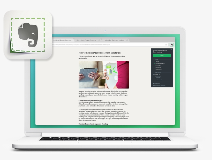 Add The Web Clipper - Evernote Icon - Free Transparent PNG Download