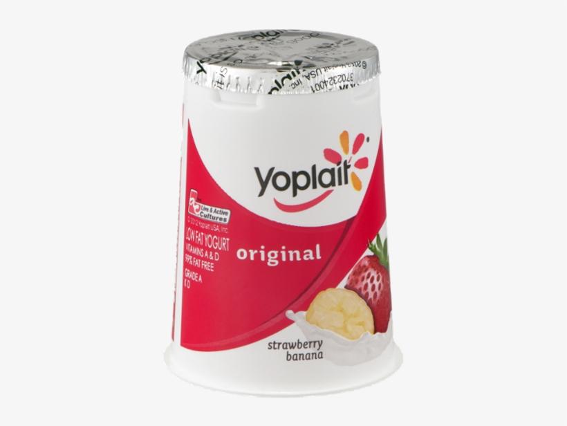 Yoplait Original Strawberry Banana Yogurt Reviews Png - Yoplait Original Yogurt, Strawberry Banana - 6 Oz Cup, transparent png #5297584