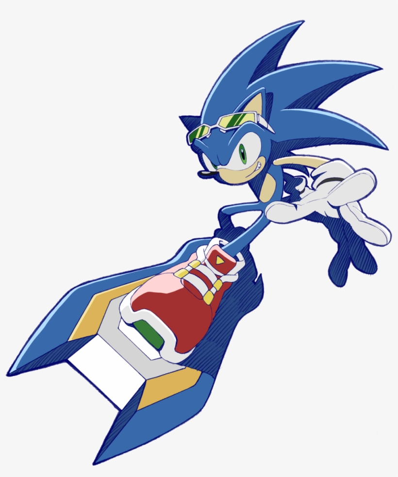 Sonic Pose 53 - Sonic The Hedgehog Sonic Riders, transparent png #5298056