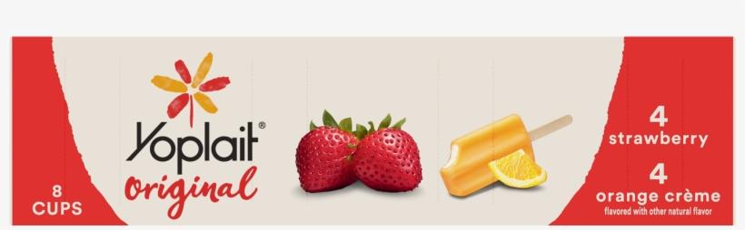 Yoplait Original Orange Crème And Strawberry Yogurt - Yoplait Original Limited Edition Peaches 'n Cream Low, transparent png #5298166