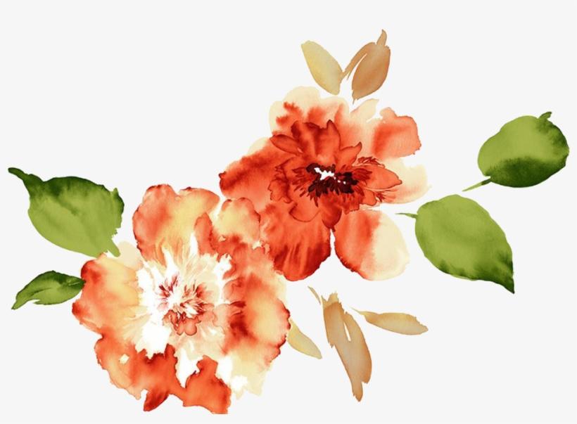Clip Transparent Download Watercolour Flowers Paper - Watercolor Flowers Peach Peony Png, transparent png #530457