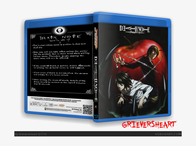 Blu-ray Edition Box Art Cover - Cover Death Note Bluray, transparent png #532350