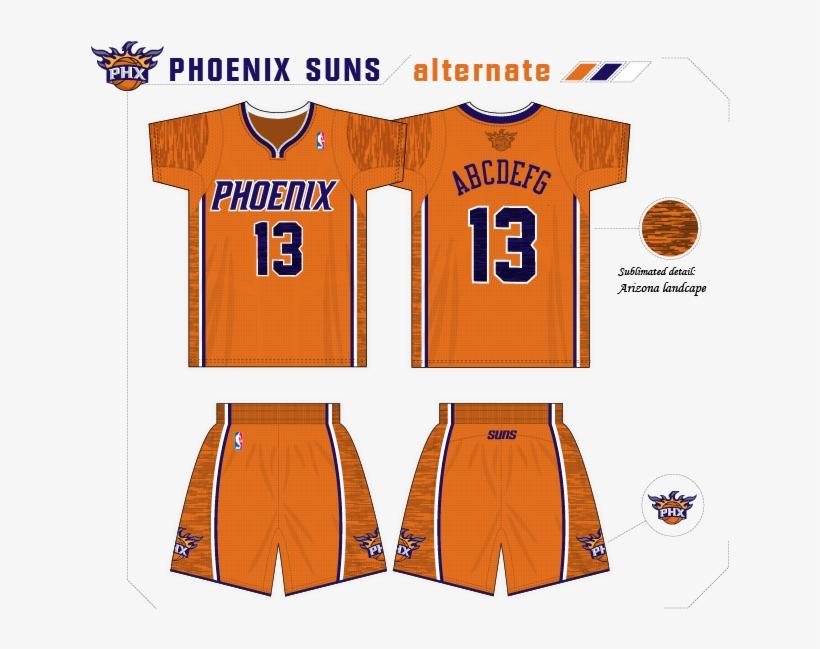 Sunsconcept-1 - Phoenix Suns New Uniforms Concept, transparent png #532671
