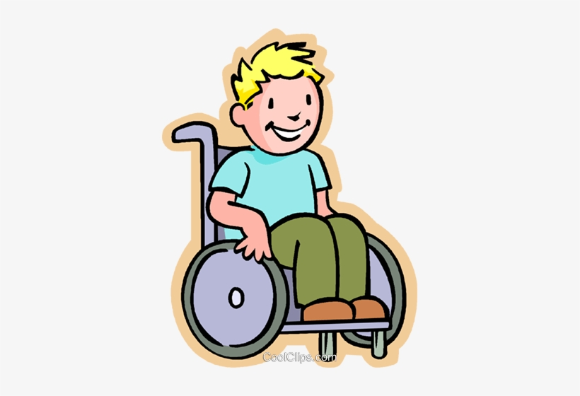 Little Boy In A Wheelchair Royalty Free Vector Clip - Clipart Boy In Wheelchair, transparent png #533341