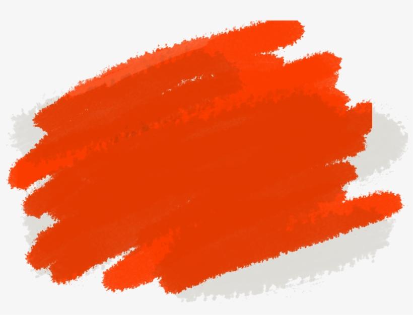 Paint Streaks Png - Orange Paint Stroke, transparent png #535358