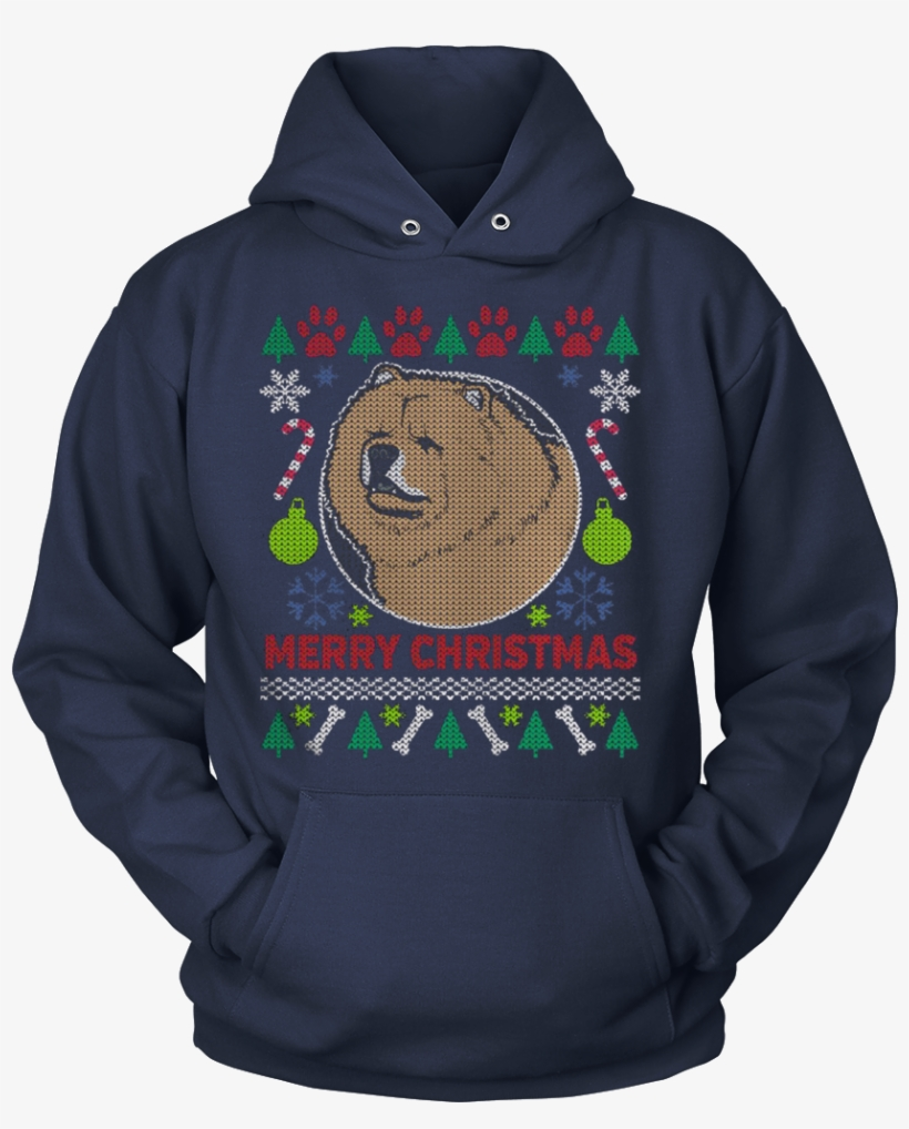 Chow Chow Dog Breed Ugly Christmas Sweater Hoodie - You Can T Scare Me T Shirt, transparent png #536974