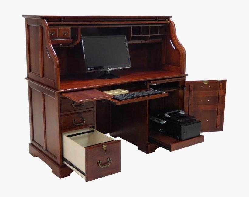 Roll Top Desk Png Photos - Roll Top Computer Desk, transparent png #537269