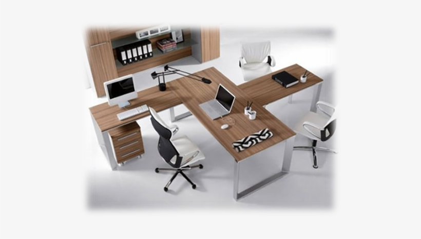 120 Degree Workstation Office Desk Small Open Plan Office Design Free Transparent Png Download Pngkey