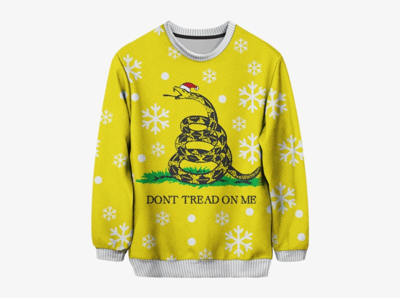 22 Ugly Christmas Sweaters That Sum Up The Ugliness - Don T Tread On Me, transparent png #537712