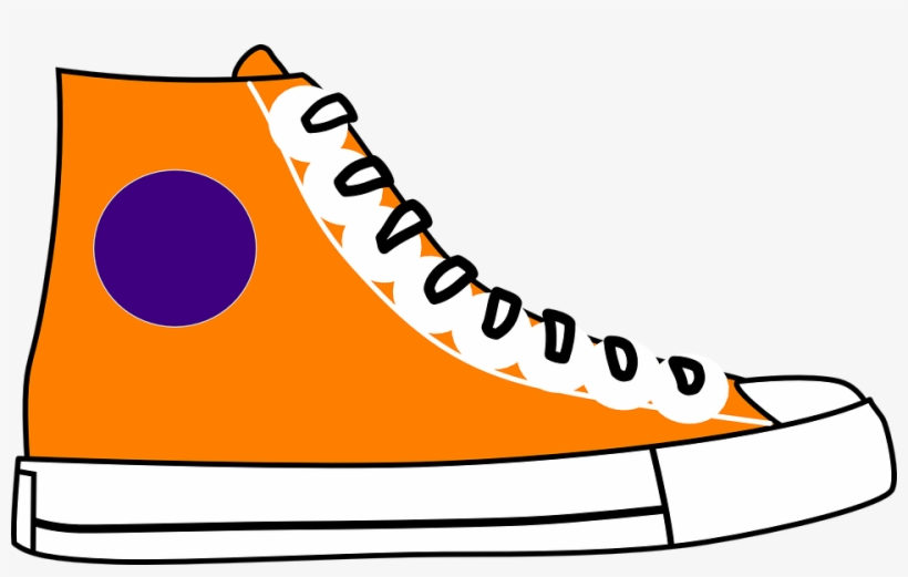 Clipart Nike Running Shoes Cartoon Jordan Shoe Pencil Orange