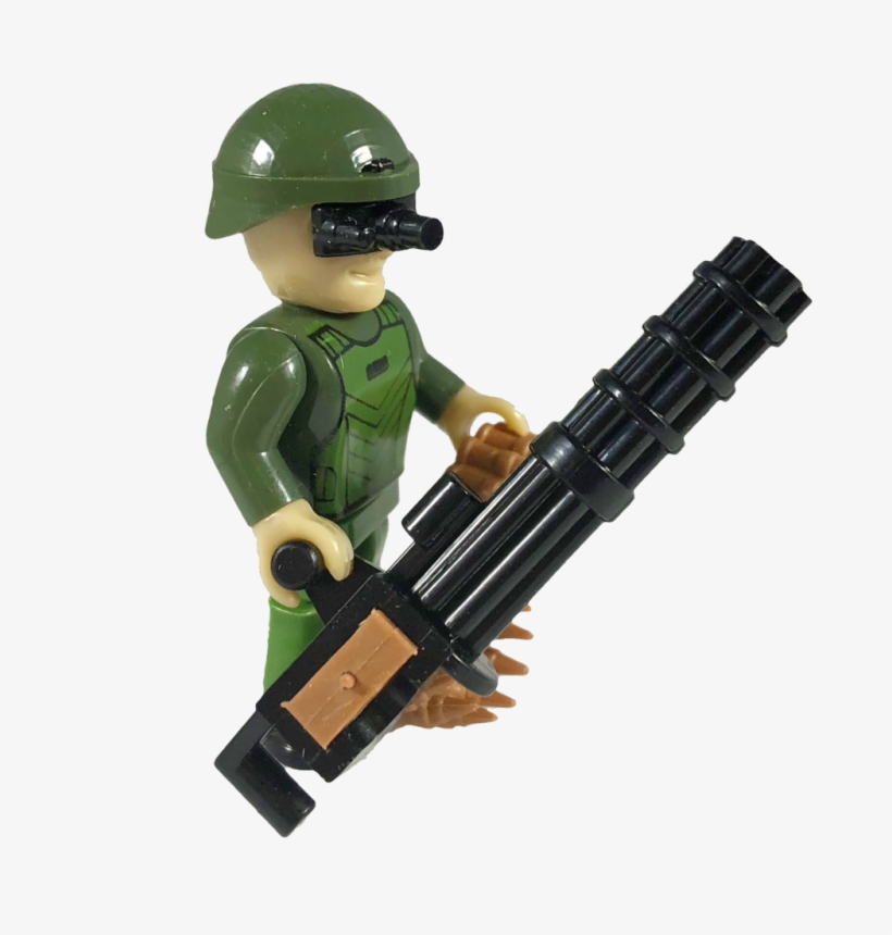 Cobi Minifig American Soldier With Minigun - American Soldier, transparent png #538417