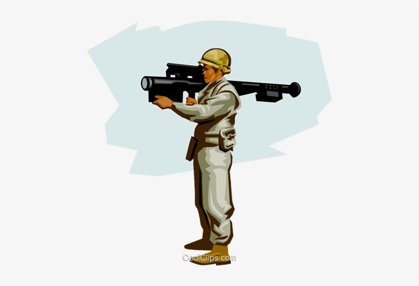 Us Soldier Modern Air Defense Royalty Free Vector Clip - Illustration, transparent png #538461